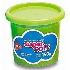 Massa De Modelar 150g Super Soft Verde - Tris