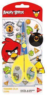 Tesoura Escolar Angry Birds 13cm - Tris