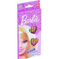 Lapis De Cor 12 Cores Sextavado Barbie - Tris