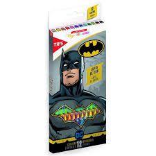 Lapis Cor 12 Cores Batman - Tris