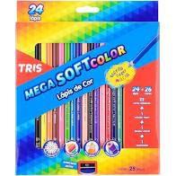 Lapis De Cor Mega Soft 24 Cores - Tris