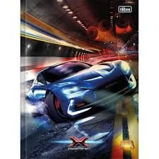 Caderno Broc Cd Univ 80f X-racing - Tilibra