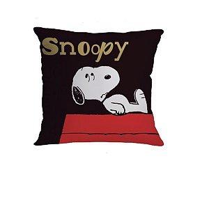 Almofada 40x40cm Fibra Veludo Getgoi Snoopy - Zona