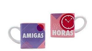 Caneca 300ml Cubo Amigas Para Todas As Hora - Zona