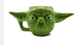 Caneca 400ml Formato 3d Star Wars Mestre Yod- Zona
