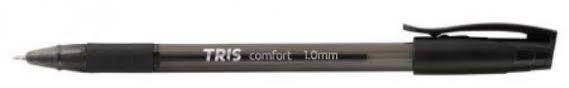 Caneta Esferografica 1,0mm Comfort Preta - Tris
