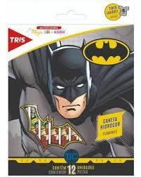 Caneta Hidrocor 12 Cores Batman - Tris