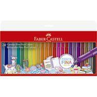 Estojo C/24 Caneta Fine Pen Promo - Faber Castell