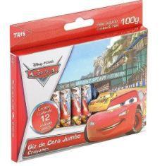 Giz Cera Jumbo Carros 12 Cores - Tris