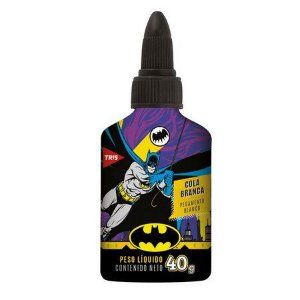 Cola Branca 40g Batman - Tris