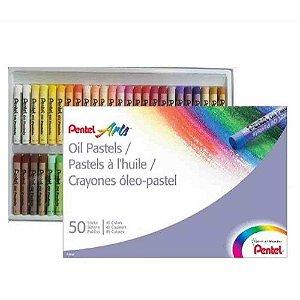 Giz Pastel C/50 Cores - Pentel