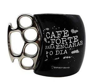 Caneca 350ml Soco Ingles Cafe Forte - Zona