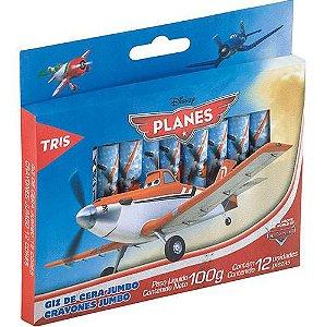 Giz Cera Jumbo Planes 12 Cores - Tris