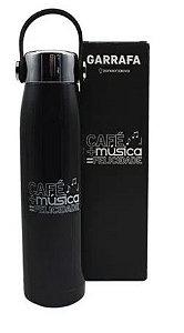 Garrafa 400ml C/alca/fone Cafe E Musica - Zona