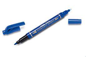 Marcador Permanente Ponta Dupla Azul - Pentel