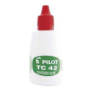 Tinta Carimbo 42ml Vermelho - Pilot