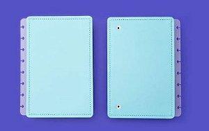 Capa E Contracapa A5 Azul Celeste - Caderno Inteli