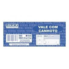 Bloco Vale 100f C/canhoto Fto - Sd