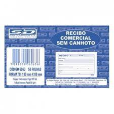 Bloco Recibo 139x88cm 50f Comercial S/canhoto - Sd