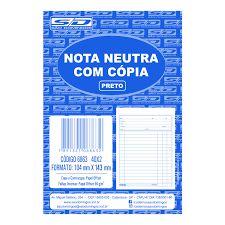 Bloco Nota Neutra 1/36 40f C/copia - Sd