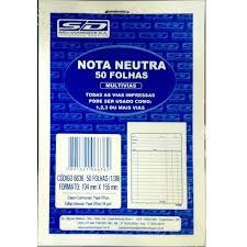 Bloco Nota Neutra S/copia Ls - Sd
