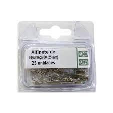 Alfinete Seg N/00 25mm Aço Niquelado C/25 - Acc