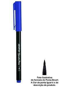 Pincel Brush Pen Azul Safira - Newpen