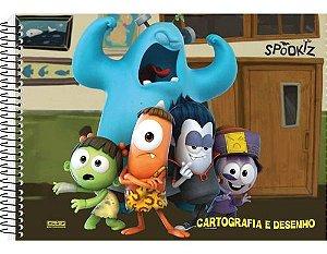 Caderno Esp Univ C/d Cart 60fls Spookiz - Sd