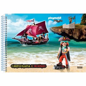 Caderno Esp Cartografia Cd 60f Playmobil - Sd