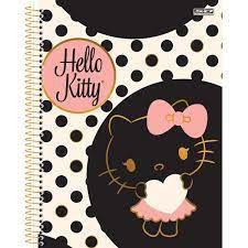 Caderno Esc C/furos 1m 80f Hello Kitty - Sd