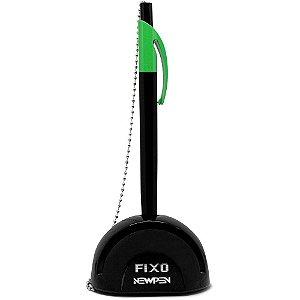 Caneta Fixo C/corrente C/recarga Verde Neon-newpen