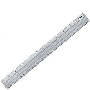 Regua 30cm Aluminio - Cis