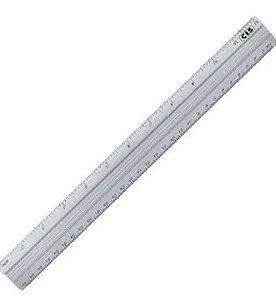 Regua 40cm Aluminio - Cis