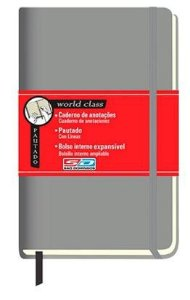 Caderno Anotacao 80f World Class Gde Cinza - Sd