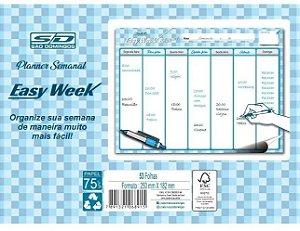 Planner Bloco 53f Permanente Easy Week - Sd