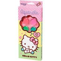 Aquarela 12 Cores + Pincel Hello Kitty - Molin