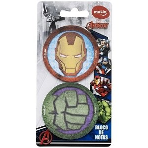 Bloco Notas C/2 50f Avengers - Molin