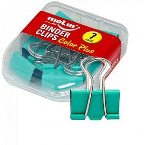Binder Clips 19mm C/12 Color Plus Verde - Molin