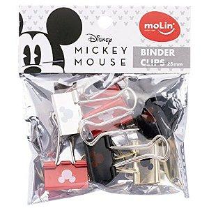 Binder Clips 25mm C/6 Mickey - Molin