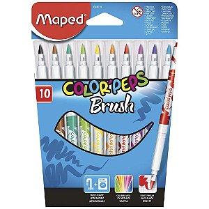 Caneta Hidrografica Color Peps 10 Cores Brus-maped