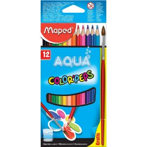 Lapis De Cor C/12 Color Peps Aquar+ Pincel - Maped