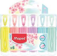 Estojo C/6 Marca Texto Pastel - Maped
