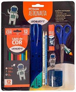 Kit Escolar 19 Pecas Astronauta - Leo E Leo