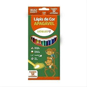 Lapis De Cor C/12 Triangular Apagavel - Leo E Leo