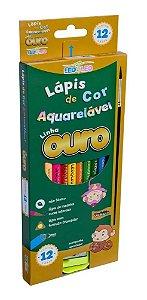 Lapis De Cor C/12 Aquarelavel Madeira C/pincel-leo