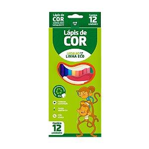 Lapis De Cor C/12 Sextavado Flex Eco - Leo E Leo