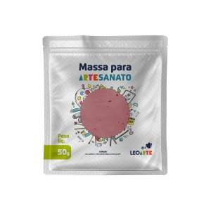 Massa E V A 250g Liso Rosa - Leoarte