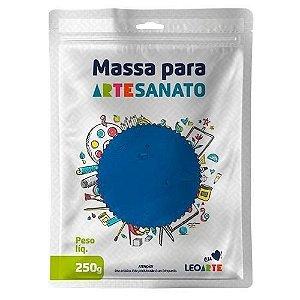 Massa E V A 250g Liso Azul - Leoarte