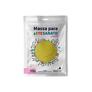 Massa E V A 250g Pastel Amarelo - Leoarte