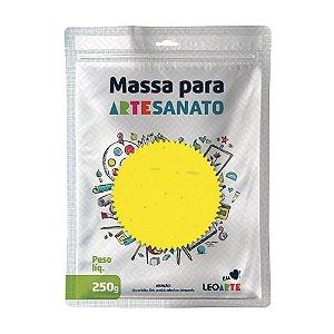 Massa E V A 250g Liso Amarelo - Leoarte